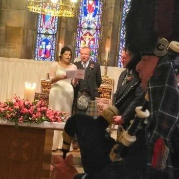 Edinburgh at Wedding Ceremony