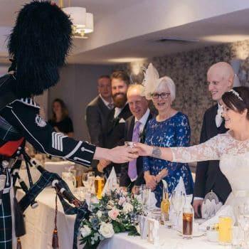 Wedding Bagpiper Reception