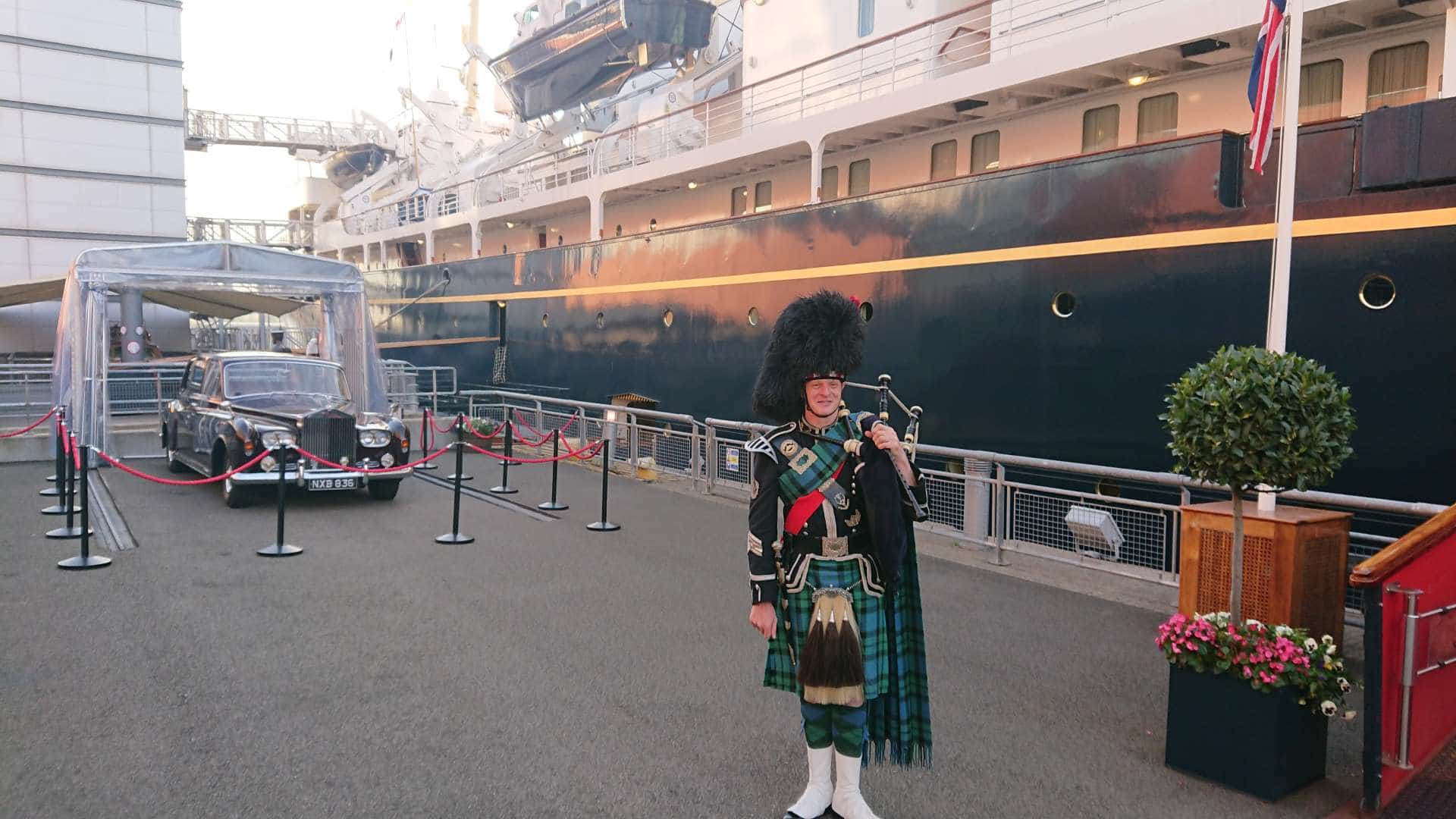 Bagpiper for Hire Royal Yacht Britannia