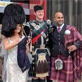 Edinburgh Wedding Bagpiper