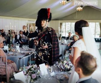 Wedding Bagpiper Pipers Toast