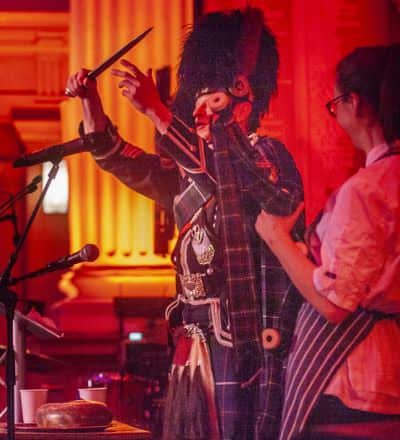Bagpiper Burns Supper