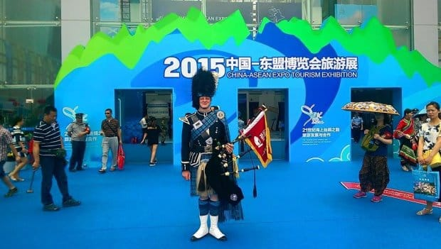 Scottish Bagpipers in China
